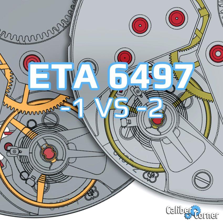 Eta Unitas 6497 1 2 Comparison Caliber Spec