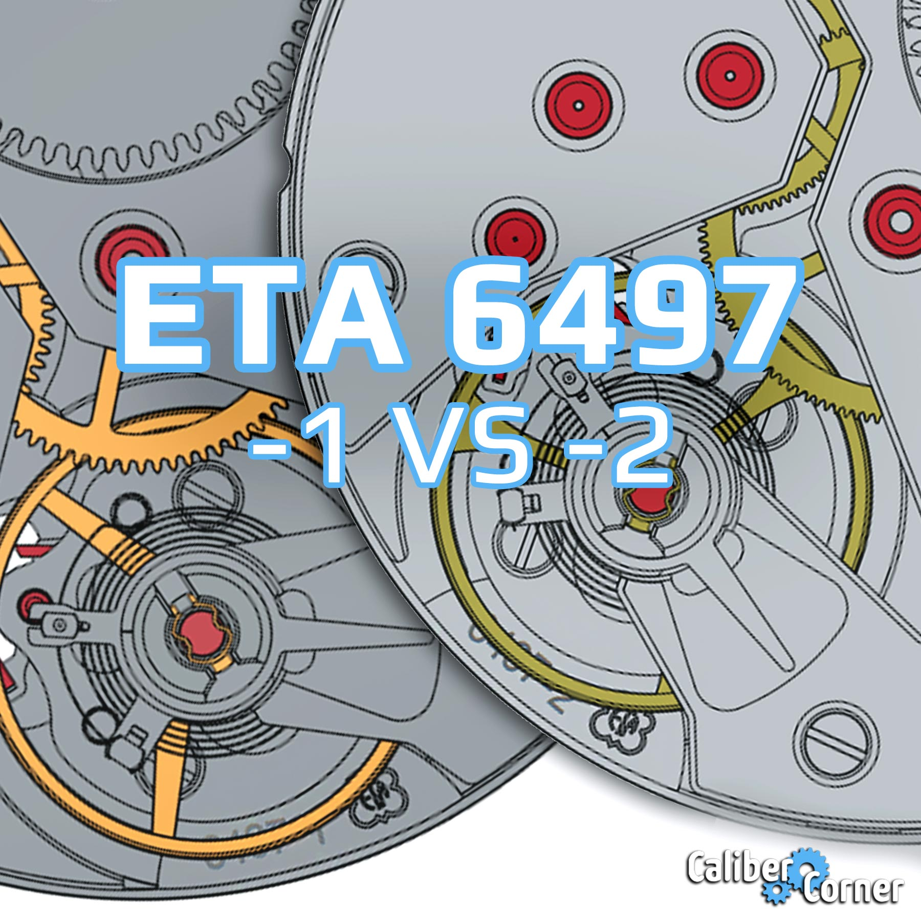 Eta Unitas 6497 1 2 Comparison Caliber Spec