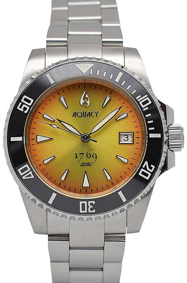 Aquacy 1769 Dive Watch Orange 9015