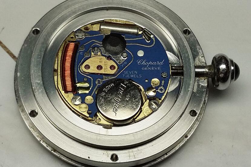 ETA caliber V8 quartz movement in Chopard watch