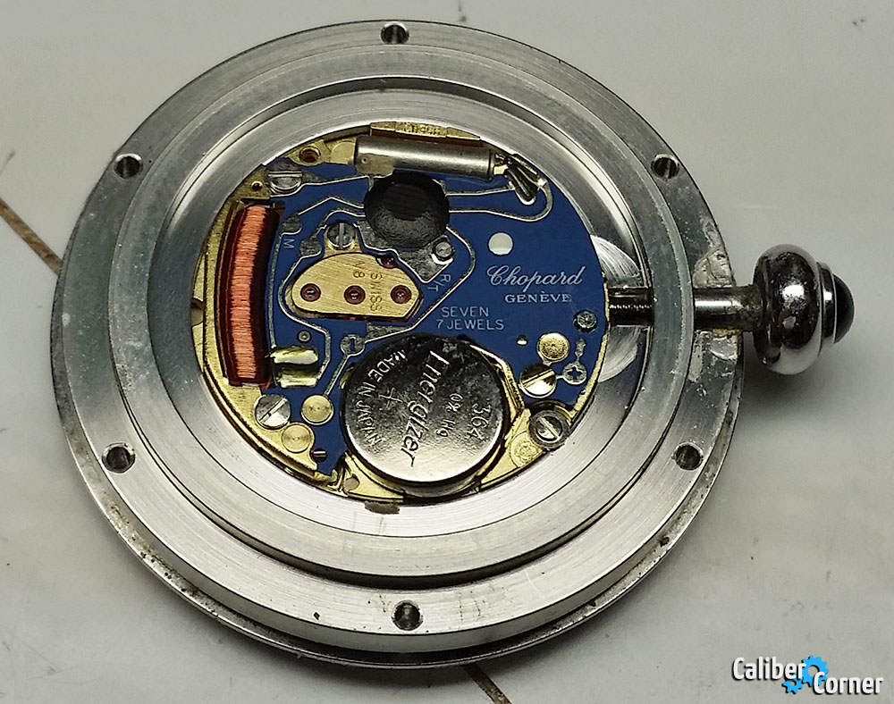 ETA caliber V8 quartz movement in Chopard watch