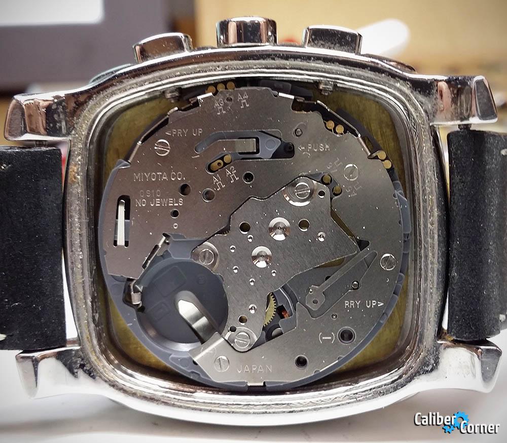 Miyota 0S10 quartz movement in Skagen watch