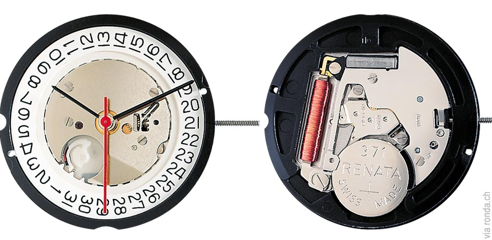 Ronda caliber 515 quartz movement