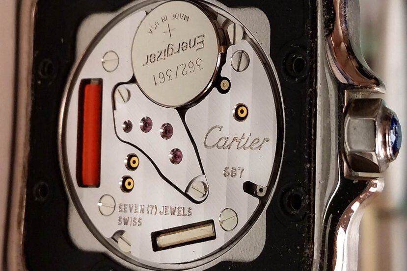 Cartier caliber 687 quartz watch movement specs, pics, reviews