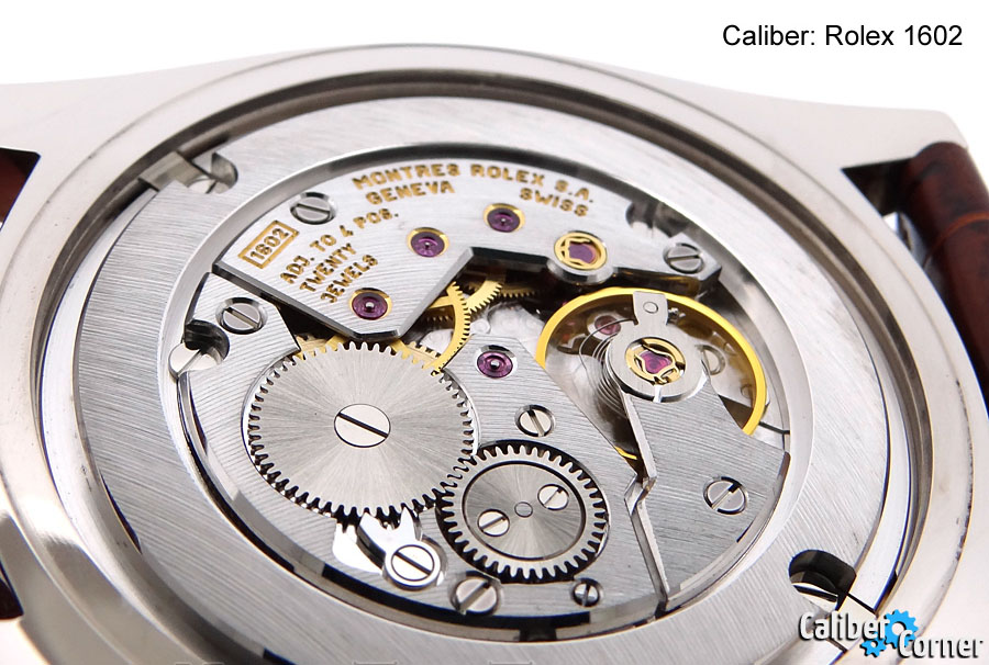 Rolex Caliber 1602 Cellini Hand-Wound Mechincal Watch Movement