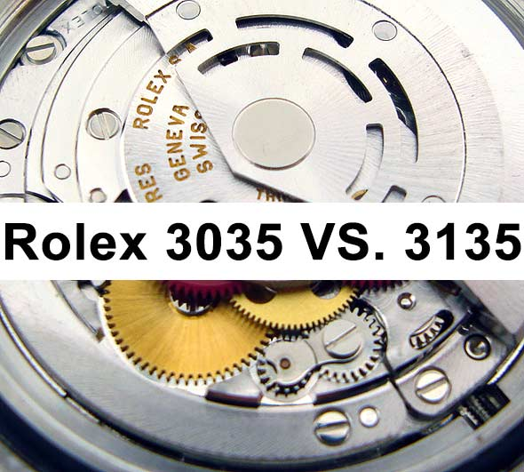 Rolex Caliber 3035 vs 3135 Differences