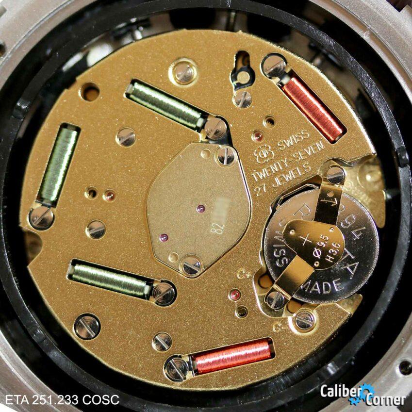 ETA 251.233 COSC Thermo Compensated Quartz Chronograph Watch Movement