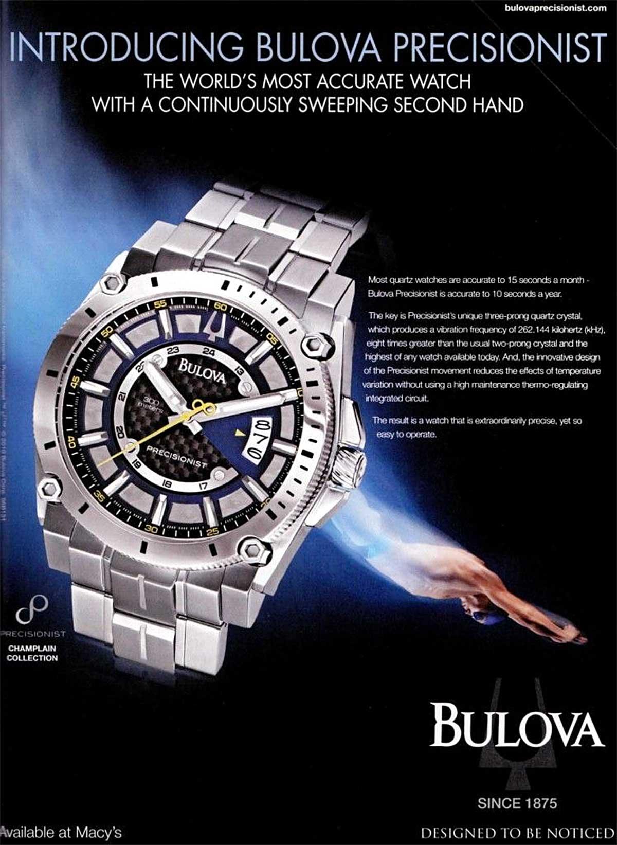 Bulova Precisionist Advertisement P102