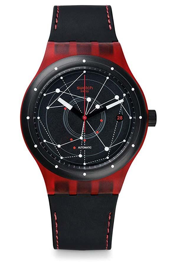 Swatch Sistem51 Sutr400 Red Black