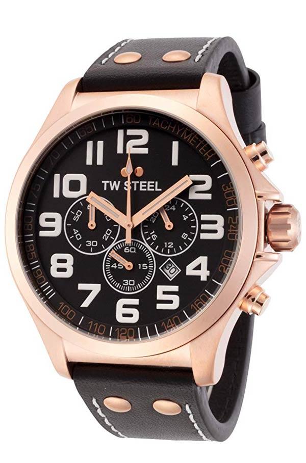 Tw Steel Rose Gold Pilot Tw418 Miyota 0s20