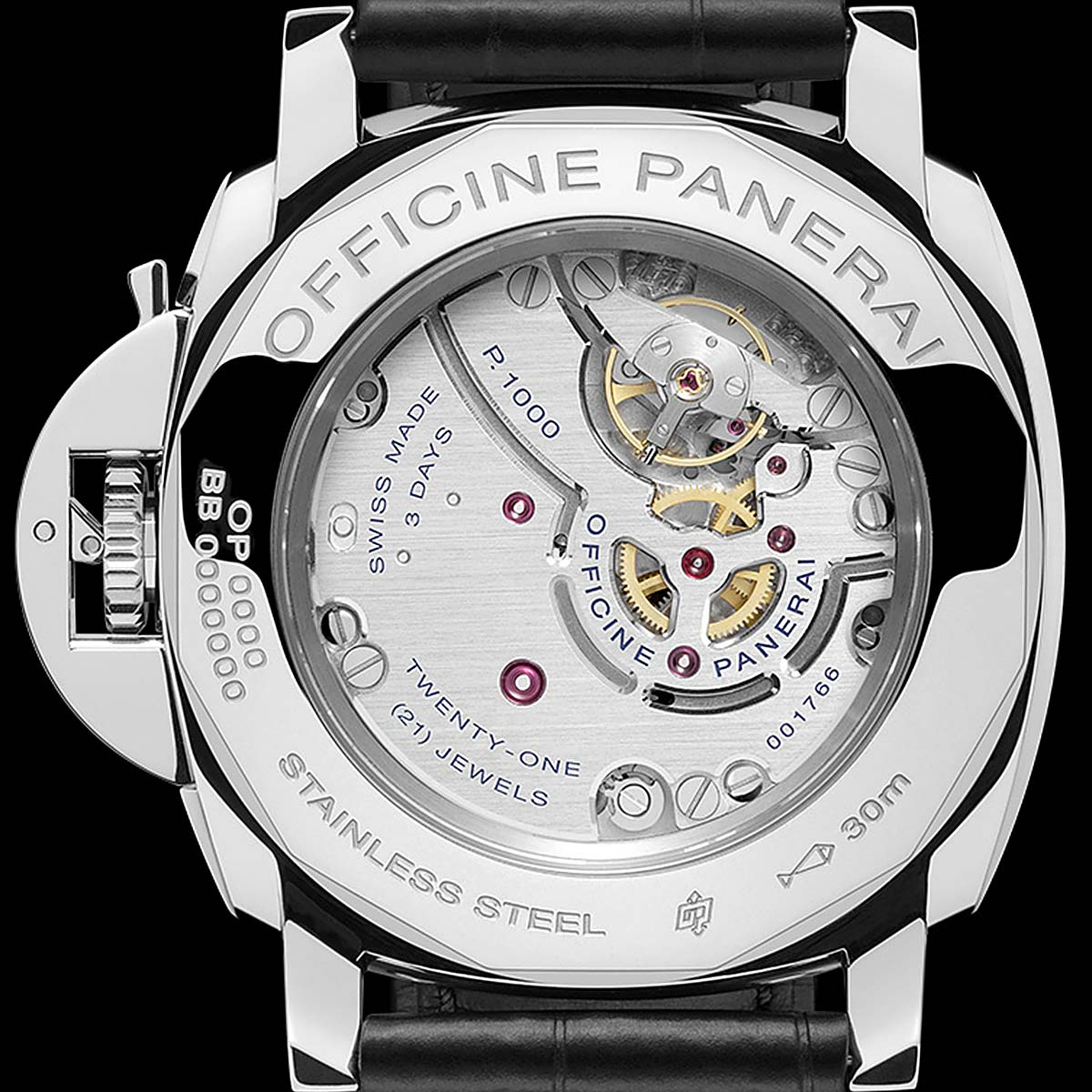 Panerai caliber P.1000 In-House Manual-Wind