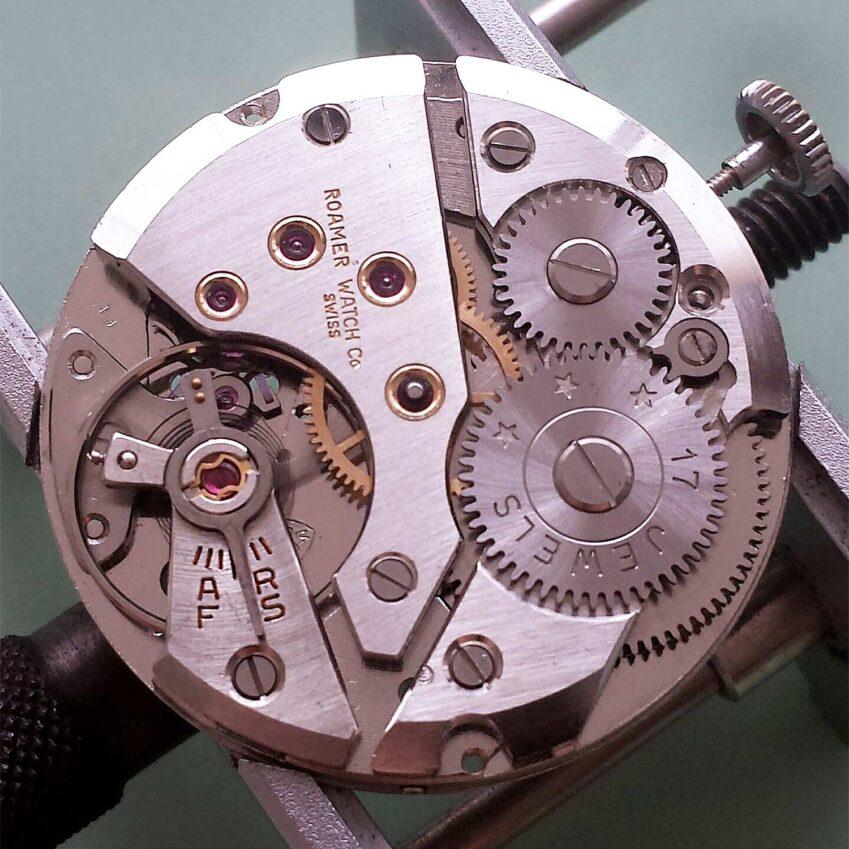 Roamer caliber MST 424 mechanical vintage watch movement