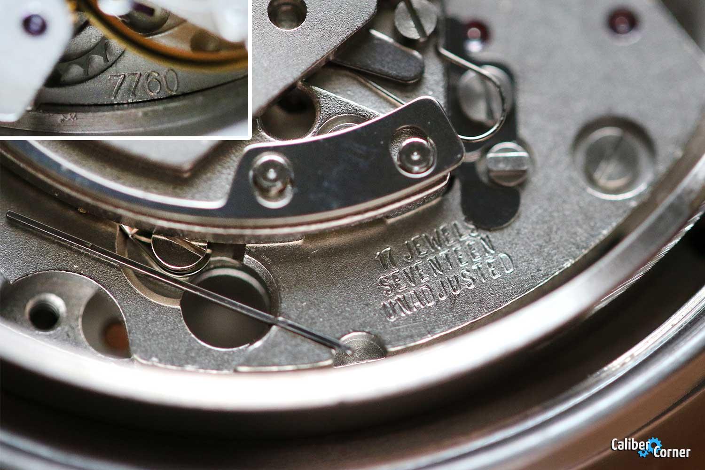 ETA / Valjoux caliber 7760 17 jewels