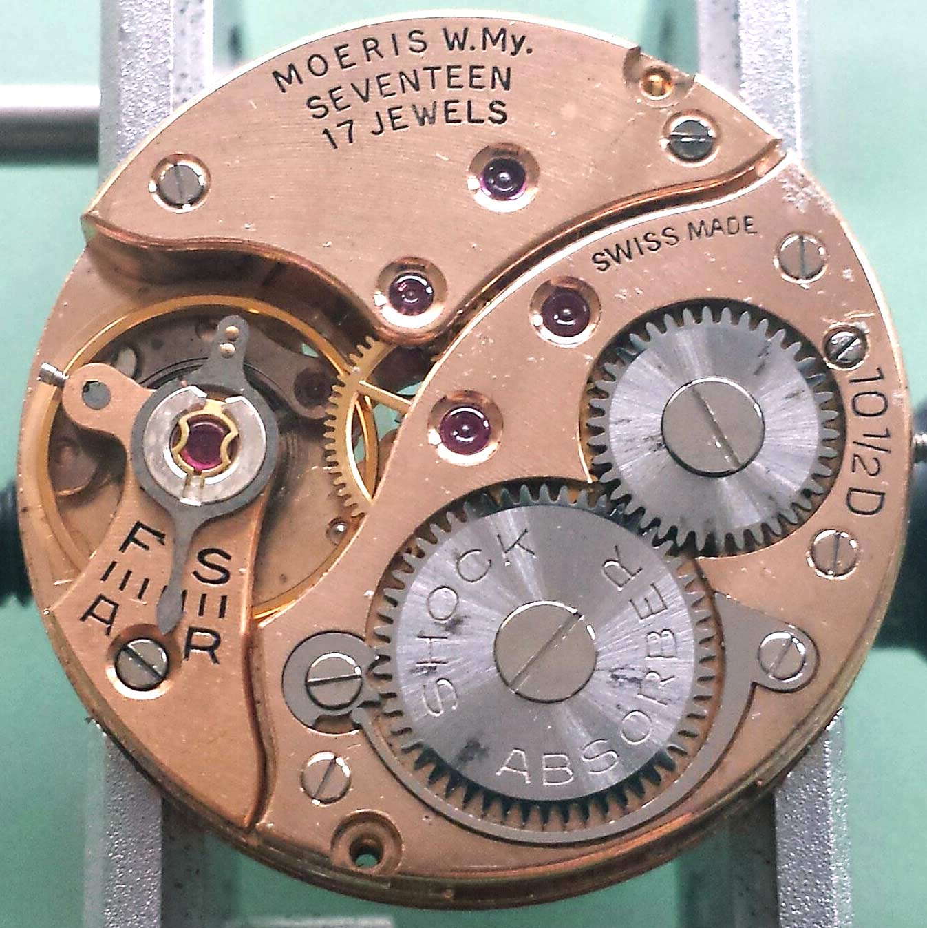 Moeris caliber 10 1/2 D mechanical watch movement