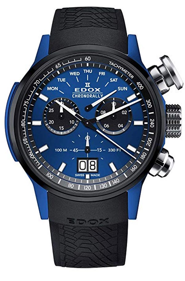 Edox Chronorally Watch Ronda 8040n