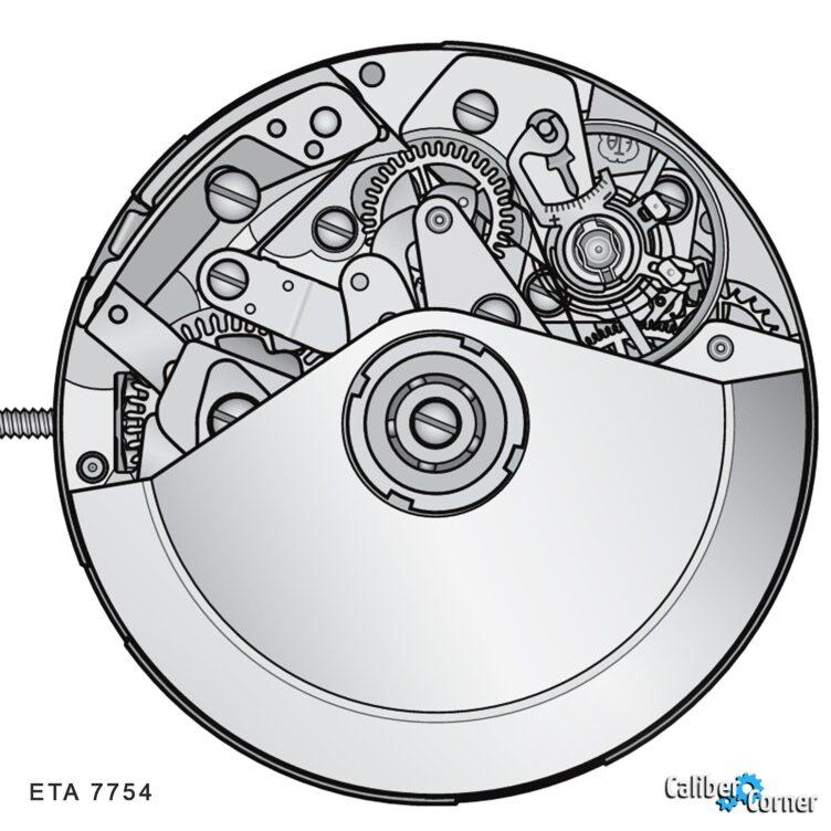 ETA caliber 7754 Drawing