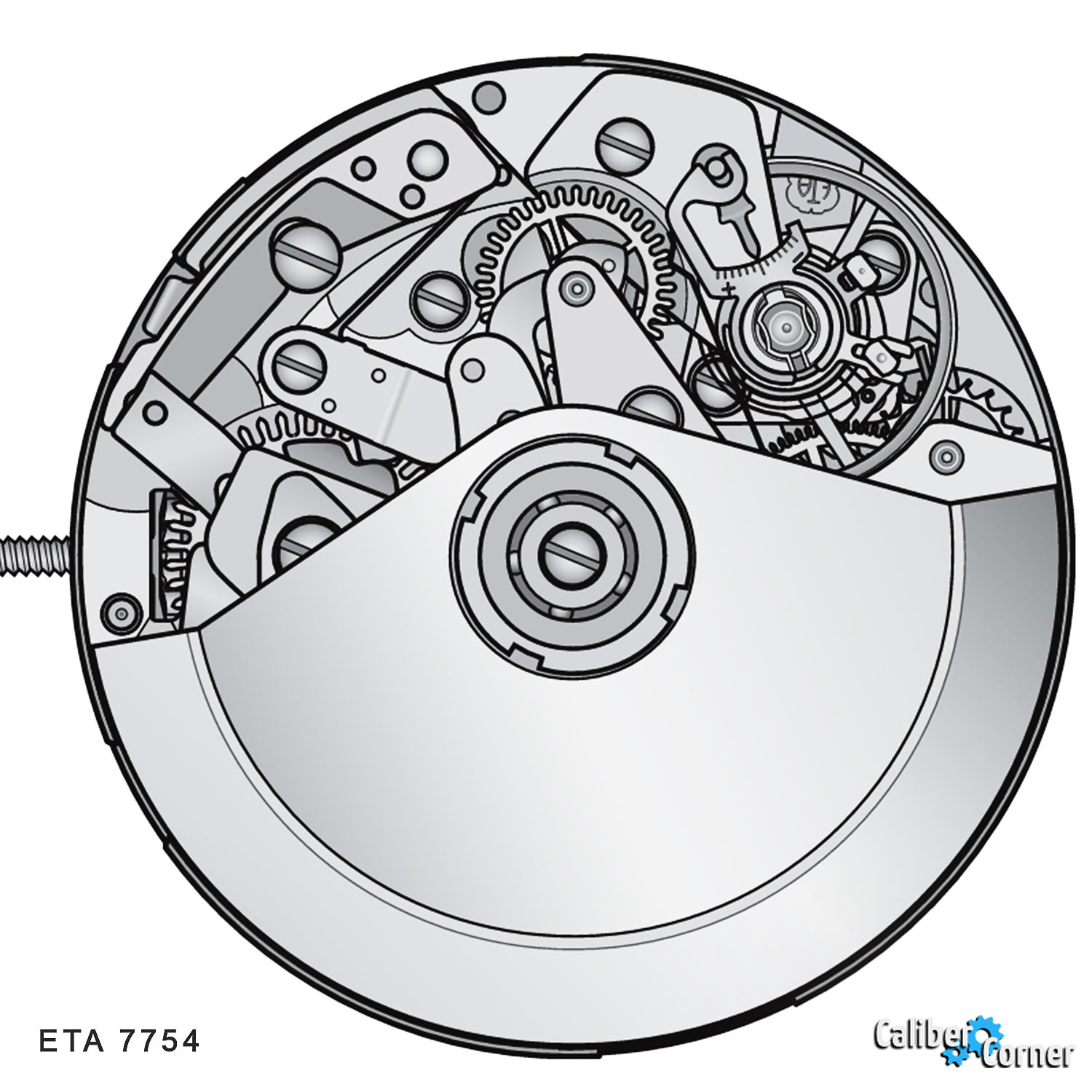 ETA caliber 7754 Drawing