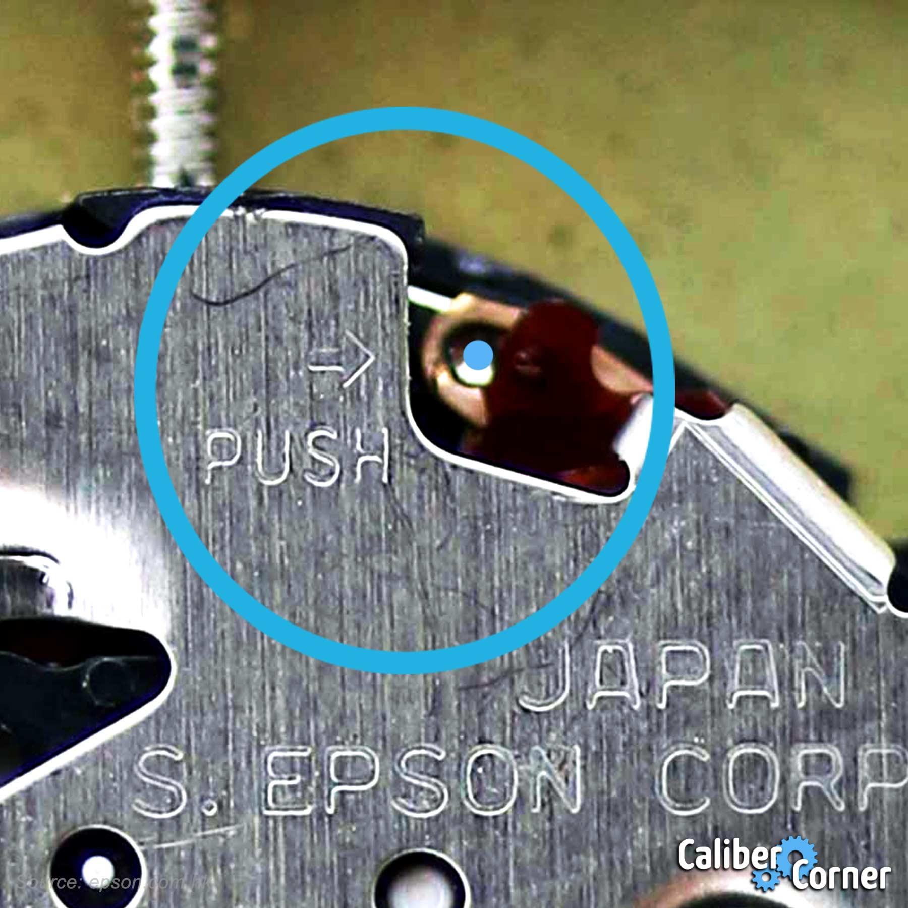 Seiko Epson Caliber Y121e Stem Removal Push