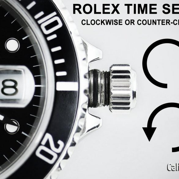 Rolex Watch Time Setting Crown Direction
