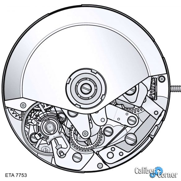 Eta Valjoux Caliber 7753 Drawing
