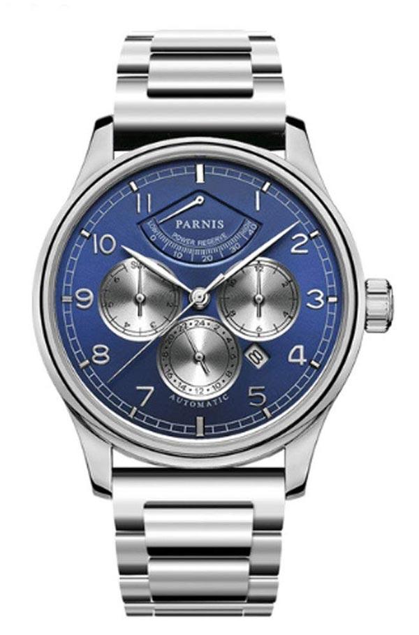 Parnis Blue Watch Miyota 9100