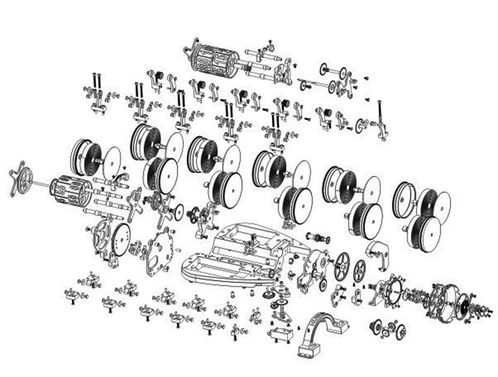 Hublot Caliber Hub9005 Ferrari Exploded Drawing