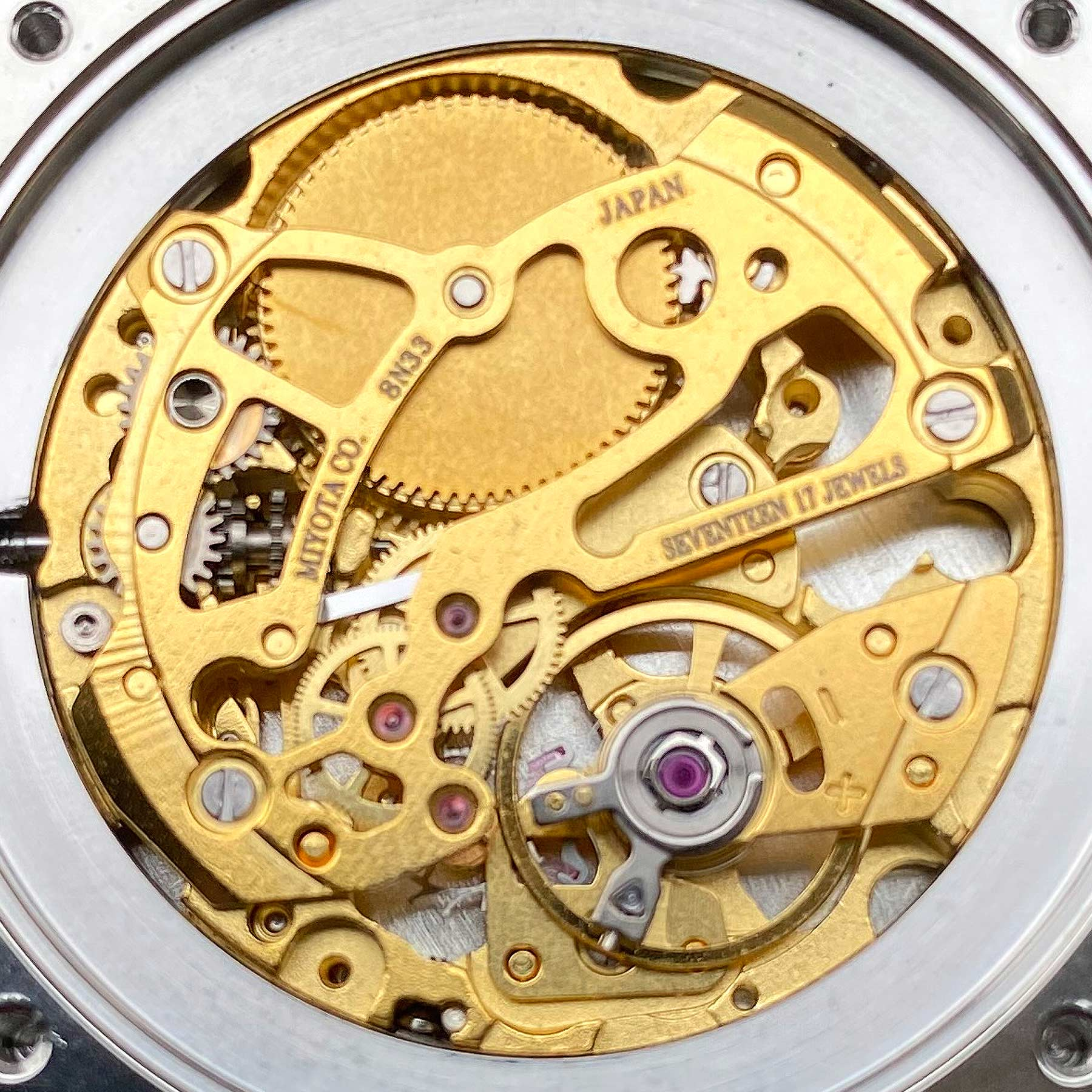 Miyota 8n33 Gold Cannonwatch
