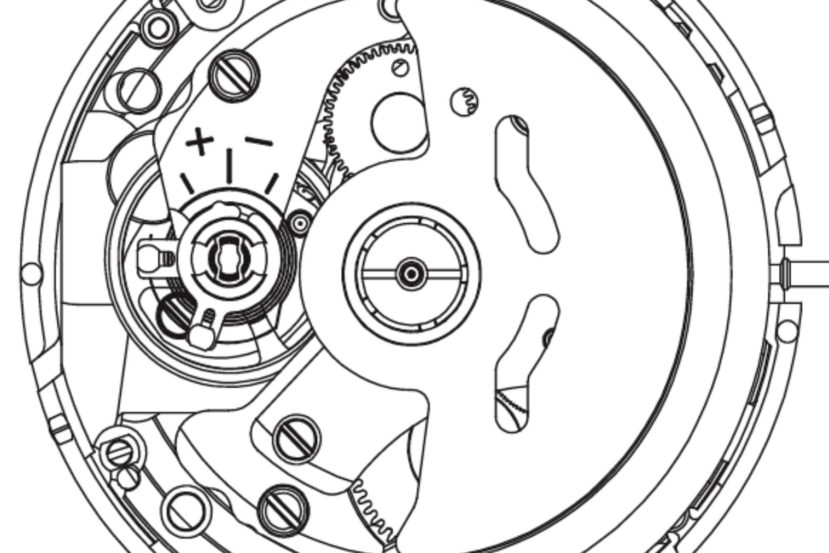 Seiko Caliber 4r35b Drawing