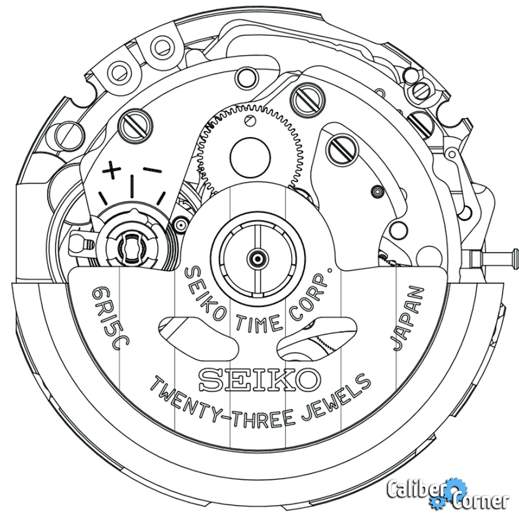 Seiko Caliber 6r15 Drawing