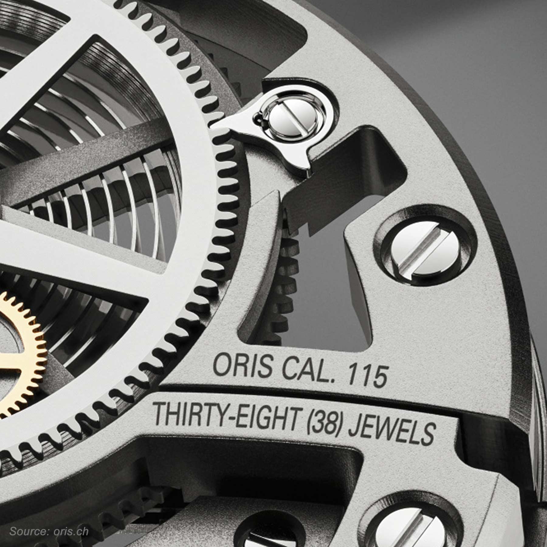 Oris Caliber 115 38 Jewels