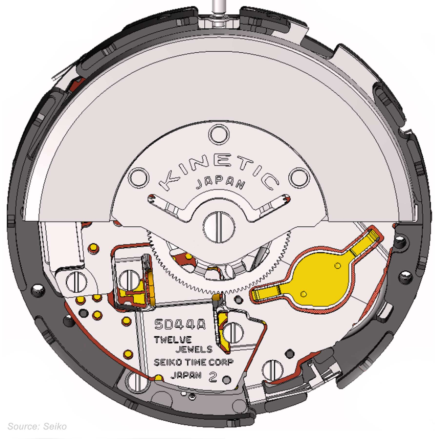 Seiko Caliber 5d44a Drawing