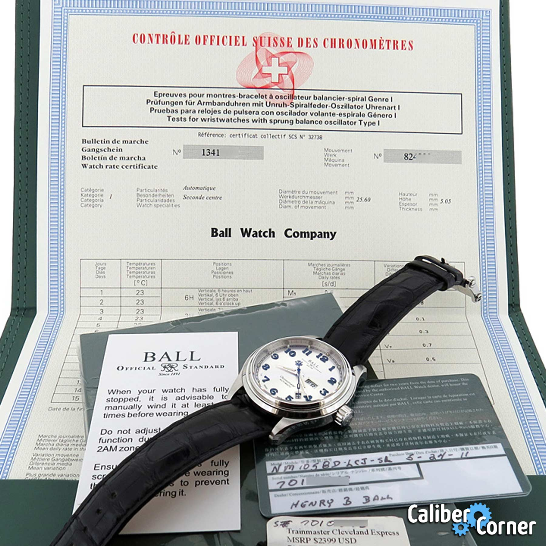 Cosc Certificate Examples Ball Watch