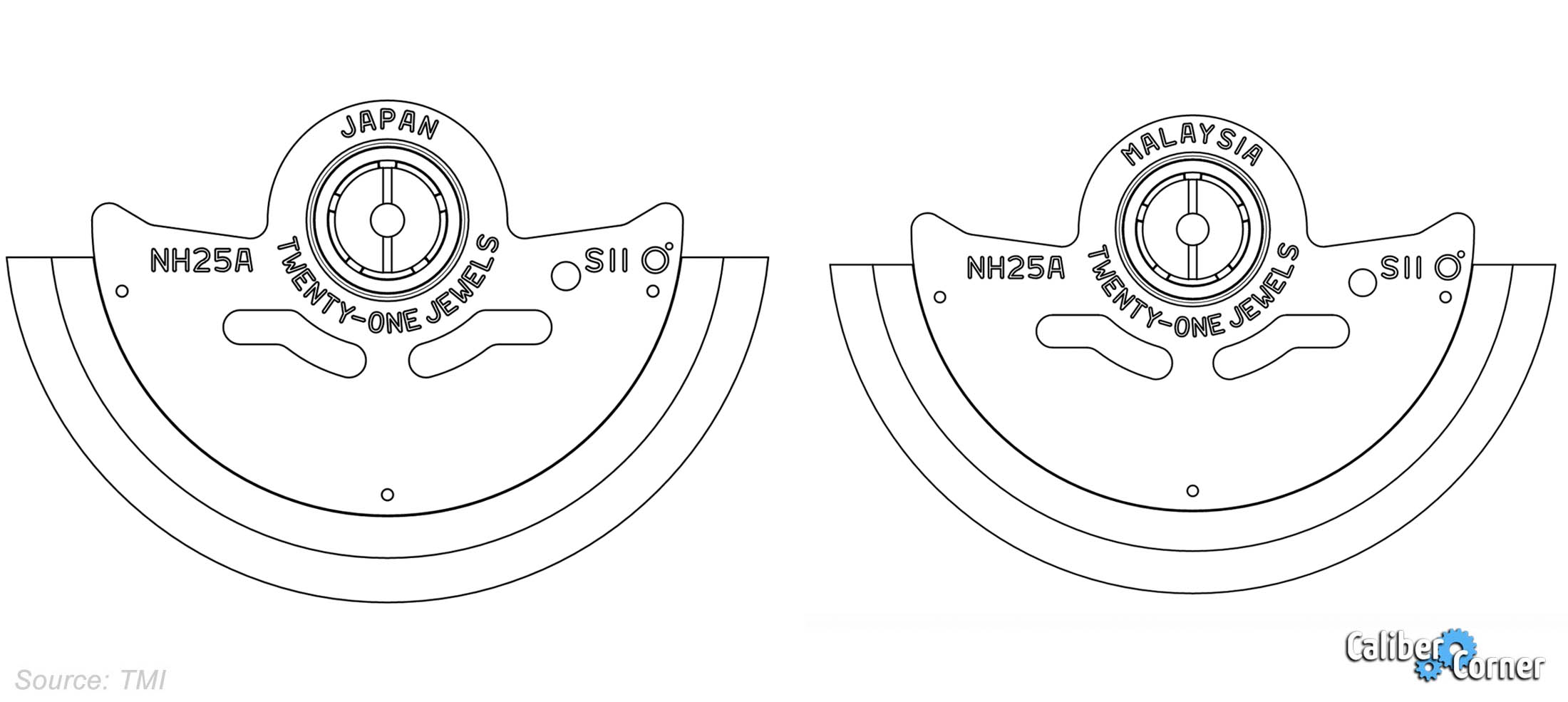Seiko Nh25 Rotor Differences