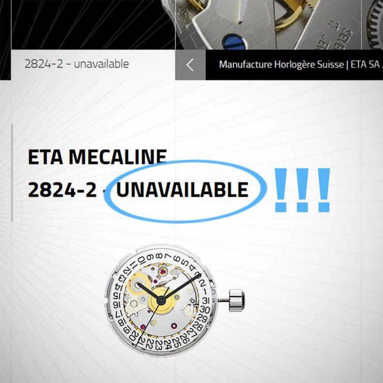 Eta Watch Movements Unavailable 1