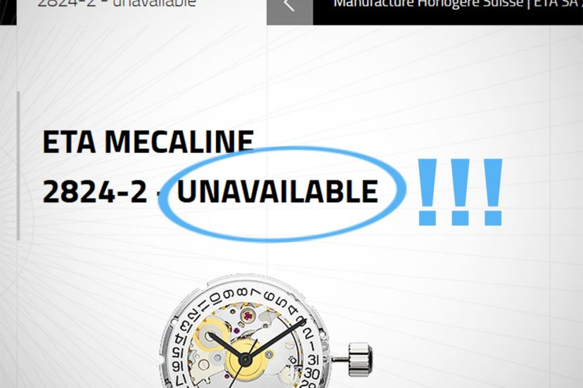 Eta Watch Movements Unavailable 1