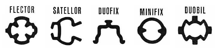 Kif Flector Satellor Duofix Minifix Duobil