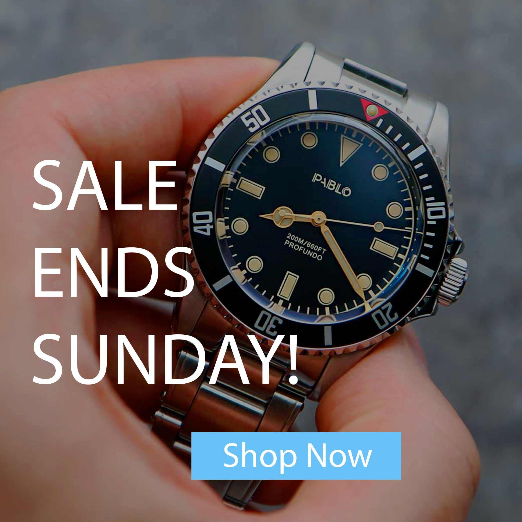 Sale Ends Sunday Banner