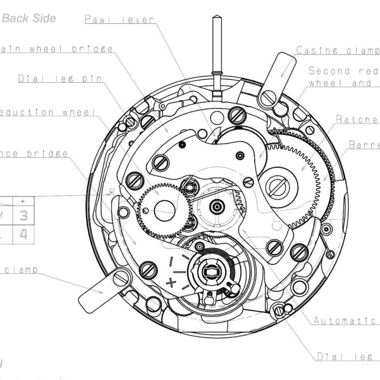 Seiko Caliber Nh71a Drawings