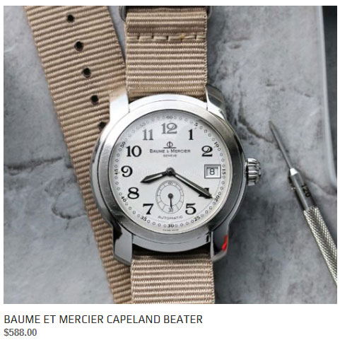 Baume et Mercier Capeland watch for sale