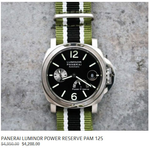Panerai 40mm PAM125 Power Reserve watch for sale
