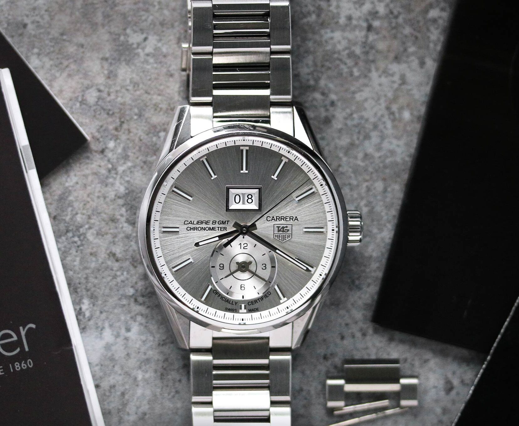 Tag Heuer Carrera GMT watch for sale