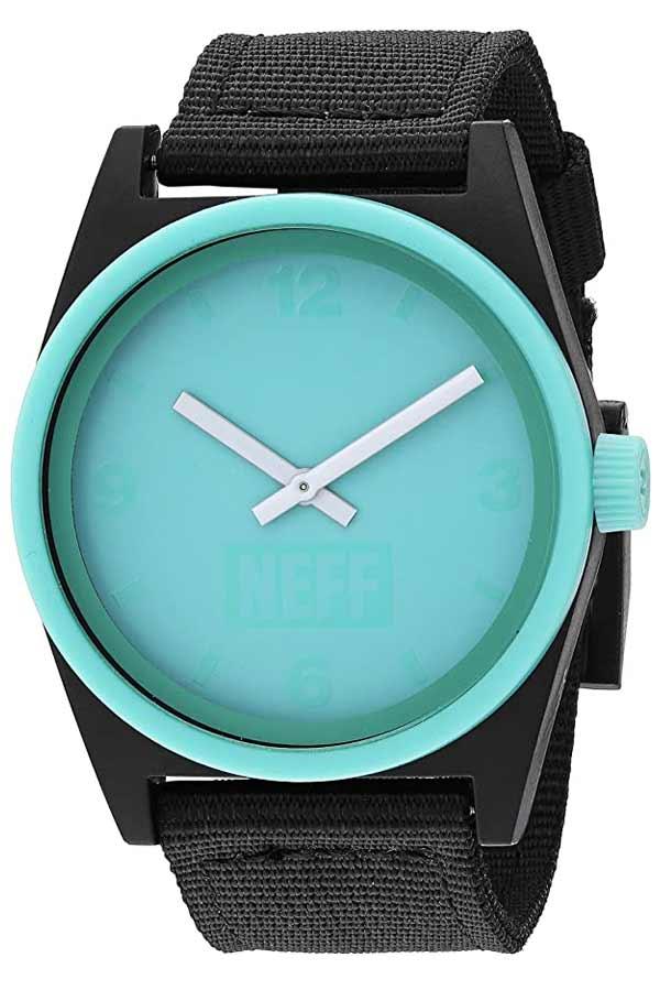 Cheap Plastic Neff Watch Teal Y120g