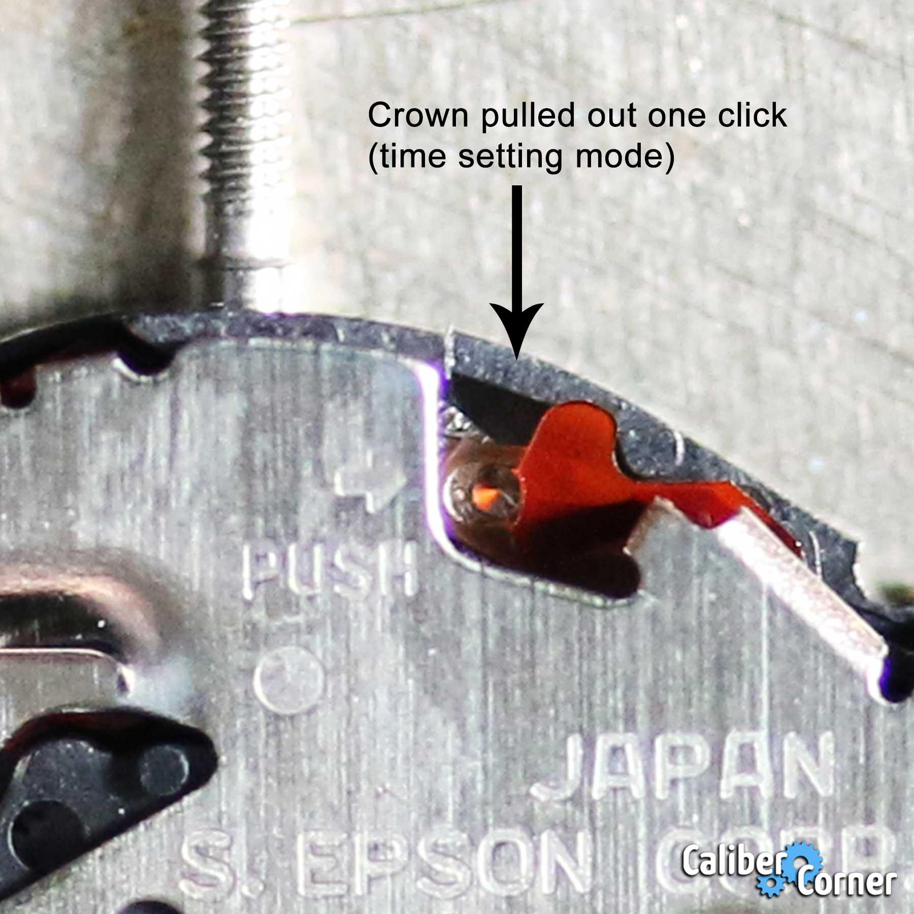Seiko Epson Caliber Y120g Crown