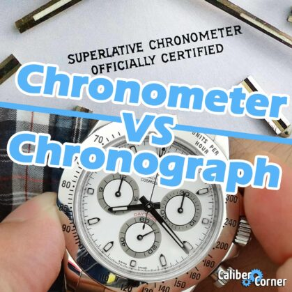 Chronometer Vs Chronograph Watches