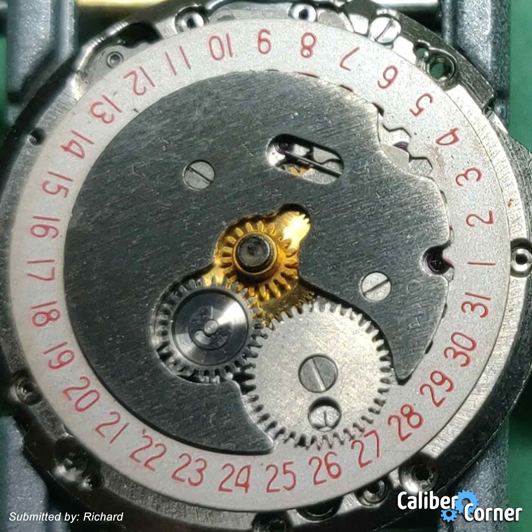 Poljot 2416 Kosmos Datewheel